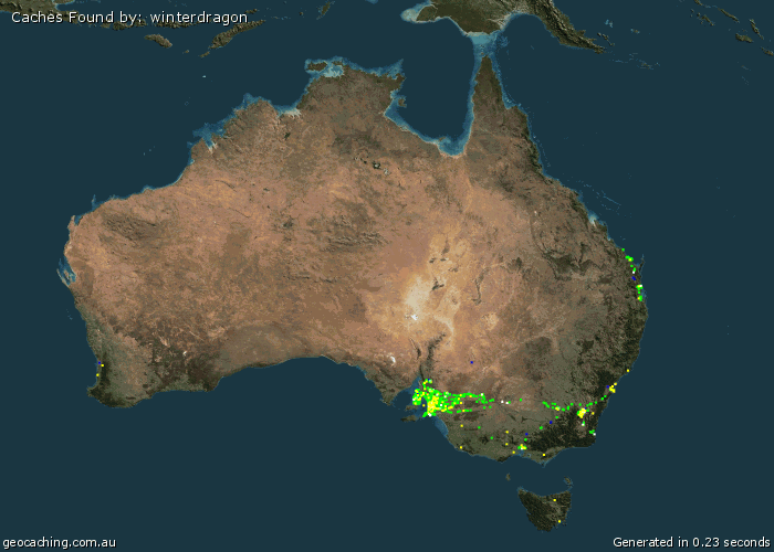 Map of Australian finds