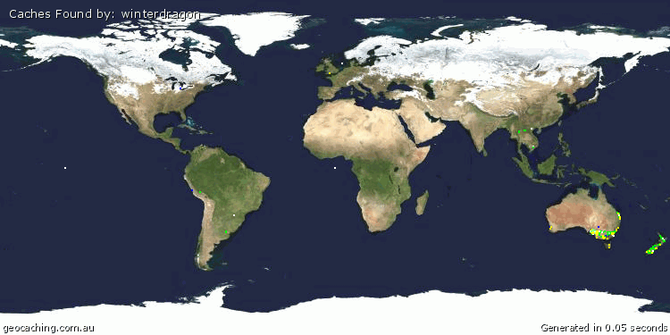 Map of world finds