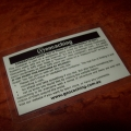 Laminated Stash Note (Pack of 5)