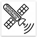 Geocaching Australia Satellite Sticker (50mm x 50mm)
