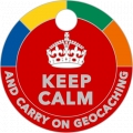 Keep Calm And Carry On Geocaching Pathtag