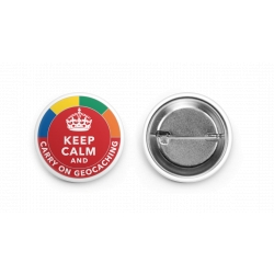 Keep Calm And Carry On Geocaching 38mm Metal Button