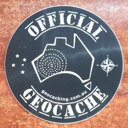 Official Geocache Round Sticker (50mm)